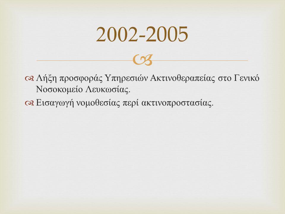   ~ 100 ασθενείς ανά έτος Ραδιοϊσοτοπικές θεραπείες Ι -131