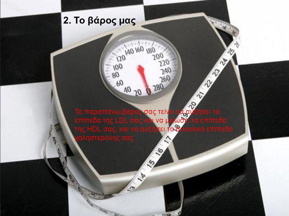 Το παραπάνω βάρος σας τείνει να αυξήσει τα επίπεδα της LDL σας και να μειώσει τα επίπεδα της HDL σας, και να αυξήσει το συνολικό επίπεδο χοληστερόλης