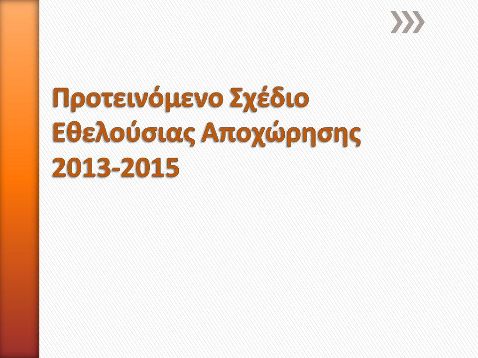 » Εφαρμογή κατά την 1 η Δεκεμβρίου ή μετά την έγκριση του ετήσιου προϋπολογισμού » Δικαιούχοι είναι όλοι οι υπάλληλοι οι οποίοι θα έχουν συμπληρώσει 10 τουλάχιστον έτη υπηρεσίας στη Cyta κατά την ημερομηνία εξαγγελίας του Σχεδίου » Αποζημίωση υπαλλήλων πέραν από τις θεμελιωμένες συνταξιοδοτικές παροχές (Ταμείο Υγείας – Ομαδική Ασφάλιση κλπ)