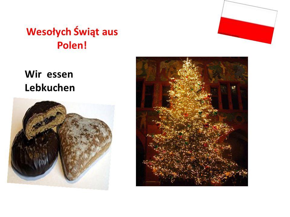 Wesołych Świąt aus Polen! Wir essen Lebkuchen