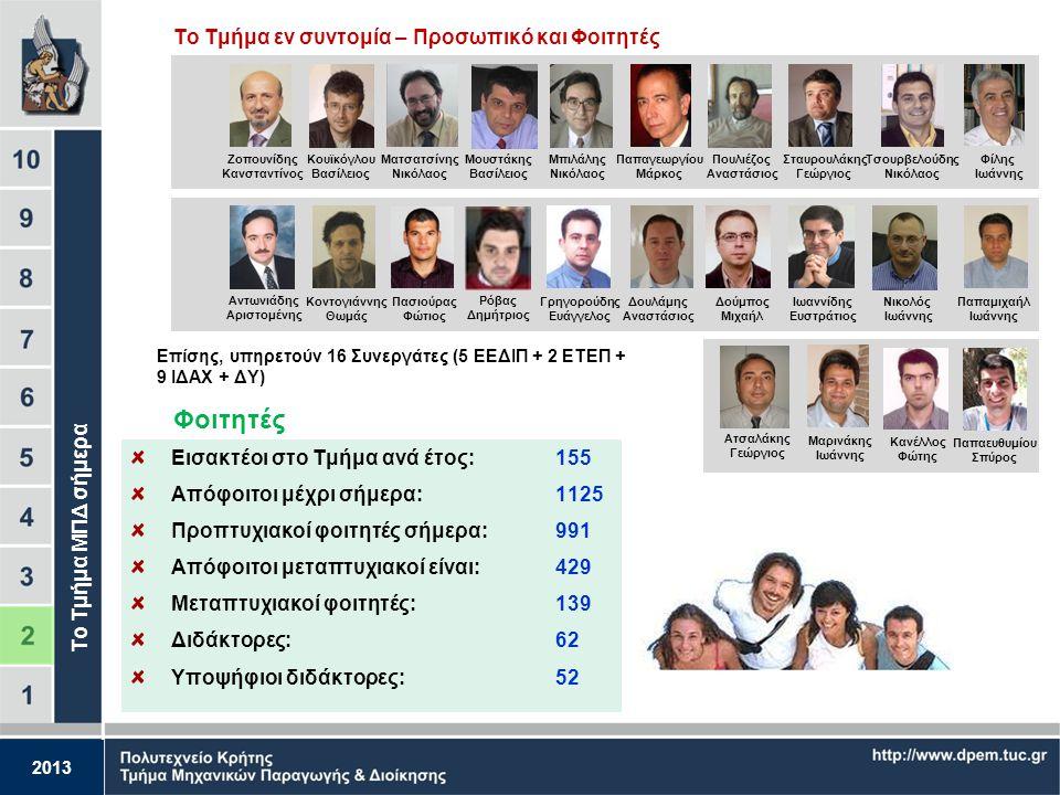 2013 Με βάση τα παραπάνω, οι Διπλωματούχοι ΜΠΔ εγγράφονται: 1. Στις αρμόδιες Διευθύνσεις Βιομηχανίας στο Βιβλίο Ανωτάτων Σχολών Ειδικότητας Μηχανολόγο