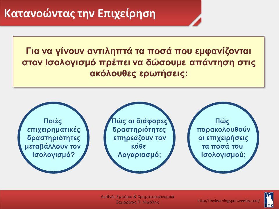 Κατανοώντας την Επιχείρηση Διεθνές Εμπόριο & Χρηματοοικονομικά Σαμαρίνας Π. Μιχάλης http://mylearningspot.weebly.com/ Για να γίνουν αντιληπτά τα ποσά