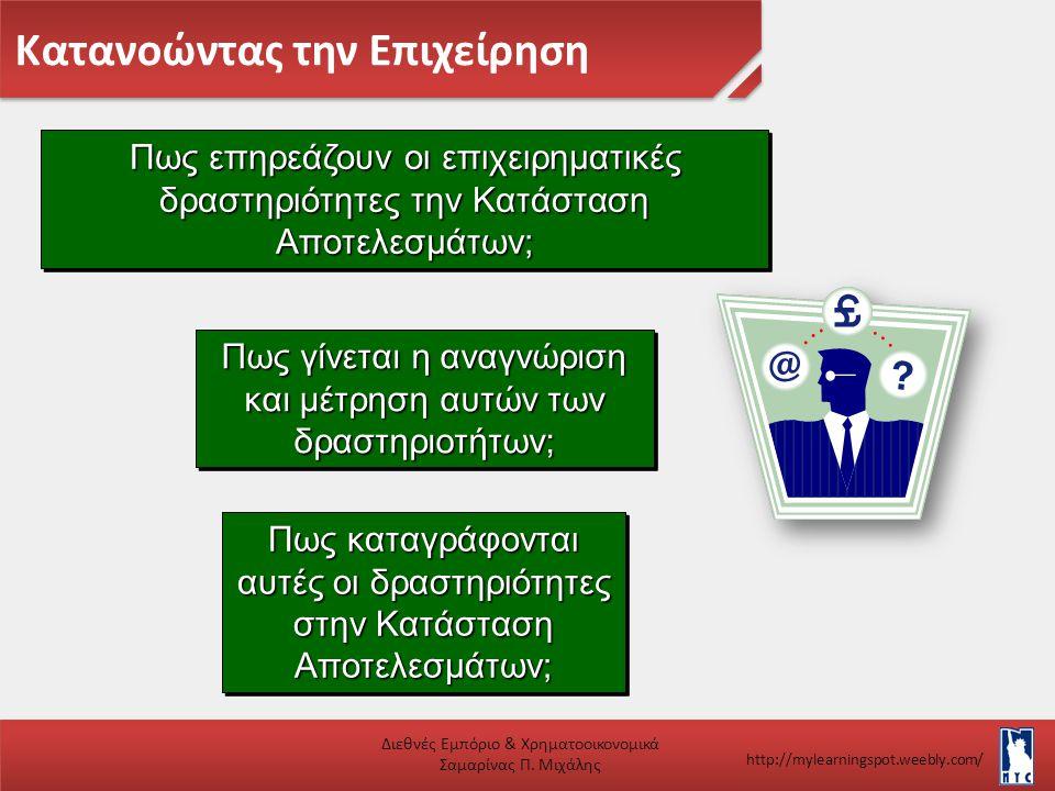 Κατανοώντας την Επιχείρηση Διεθνές Εμπόριο & Χρηματοοικονομικά Σαμαρίνας Π. Μιχάλης http://mylearningspot.weebly.com/ Πως επηρεάζουν οι επιχειρηματικέ