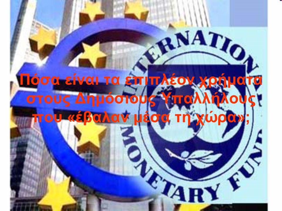 Ας θεωρήσουμε λοιπόν ότι αυτοί οι Δημόσιοι Υπάλληλοι που προσλήφθηκαν μεταξύ 2003-2009 έπαιρναν χοντρούς μισθούς της τάξης των 3000 Ευρώ το μήνα (το 2