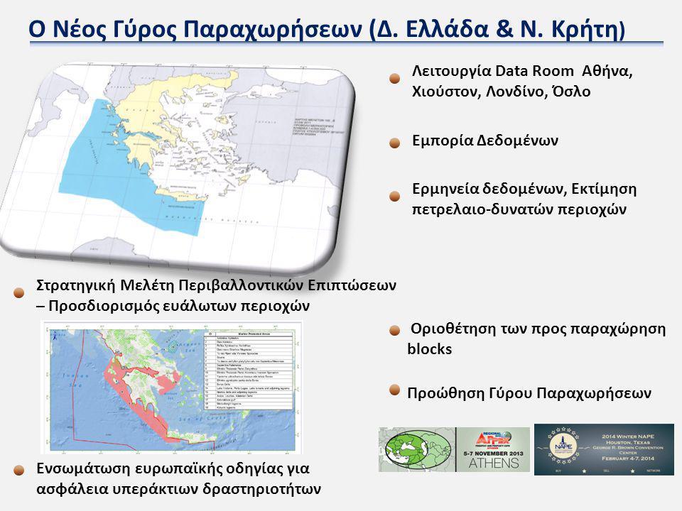Ο Νέος Γύρος Παραχωρήσεων (Δ. Ελλάδα & Ν. Κρήτη ) Στρατηγική Μελέτη Περιβαλλοντικών Επιπτώσεων – Προσδιορισμός ευάλωτων περιοχών Οριοθέτηση των προς π
