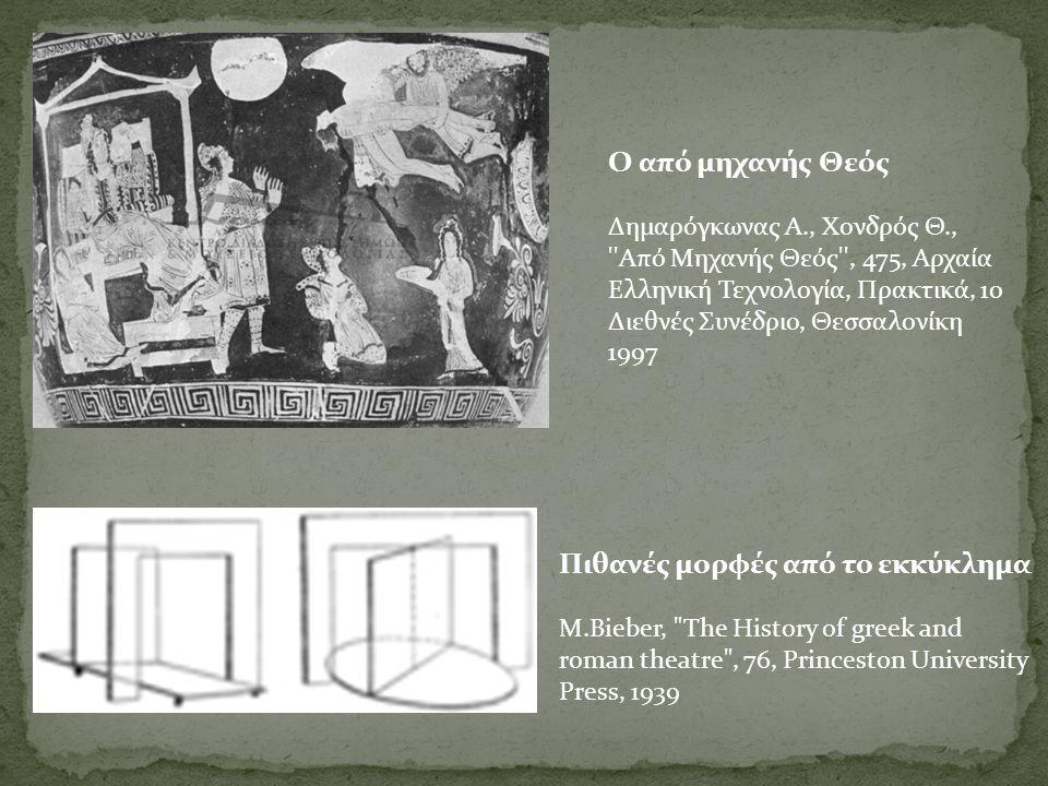 Ο Ο από μηχανής Θεός Δημαρόγκωνας Α., Χονδρός Θ., ''Από Μηχανής Θεός'', 475, Αρχαία Ελληνική Τεχνολογία, Πρακτικά, 1ο Διεθνές Συνέδριο, Θεσσαλονίκη 19