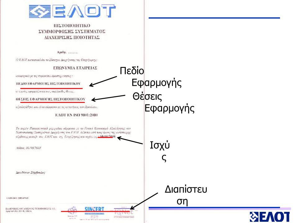 ΕΝΗΜΕΡΩΣΗ ΔΙΚΑΙΟΥΧΩΝ – KOMOTHNH 17 ΦΕΒ 2009 ΔΙΑΔΙΚΑΣΙΑ ΠΙΣΤΟΠΟΙΗΣΗΣ Έγγραφο επιβεβαίωσης (πιστοποιητικό)  επωνυμία και έδρα του οργανισμού (ή τη γεωγραφική θέση των κεντρικών γραφείων και των λοιπών θέσεων εφαρμογής στην περίπτωση περισσοτέρων της μίας θέσεων εφαρμογής)  ημερομηνίες – χορήγησης / λήξης  πρότυπα διαχειριστικής επάρκειας  πεδίο εφαρμογής της επιβεβαίωσης αναφορικά με το είδος των έργων που υλοποιούνται από τον οργανισμό και για τα οποία επιβεβαιώνεται η διαχειριστική του επάρκεια  επίπεδο διαχειριστικής επάρκειας ανά κατηγορία έργων που υλοποιούνται από τον οργανισμό και για τα οποία επιβεβαιώνεται η διαχειριστική του επάρκεια  υπηρεσιακές μονάδες, που εκτελούν τις βασικές λειτουργίες υλοποίησης έργων