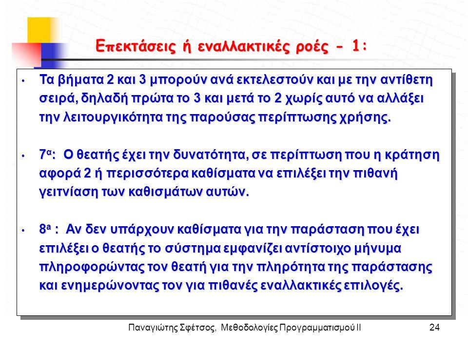 Παναγιώτης Σφέτσος, Μεθοδολογίες Προγραμματισμού ΙΙ24 Στόχοι • Τα βήματα 2 και 3 μπορούν ανά εκτελεστούν και με την αντίθετη σειρά, δηλαδή πρώτα το 3