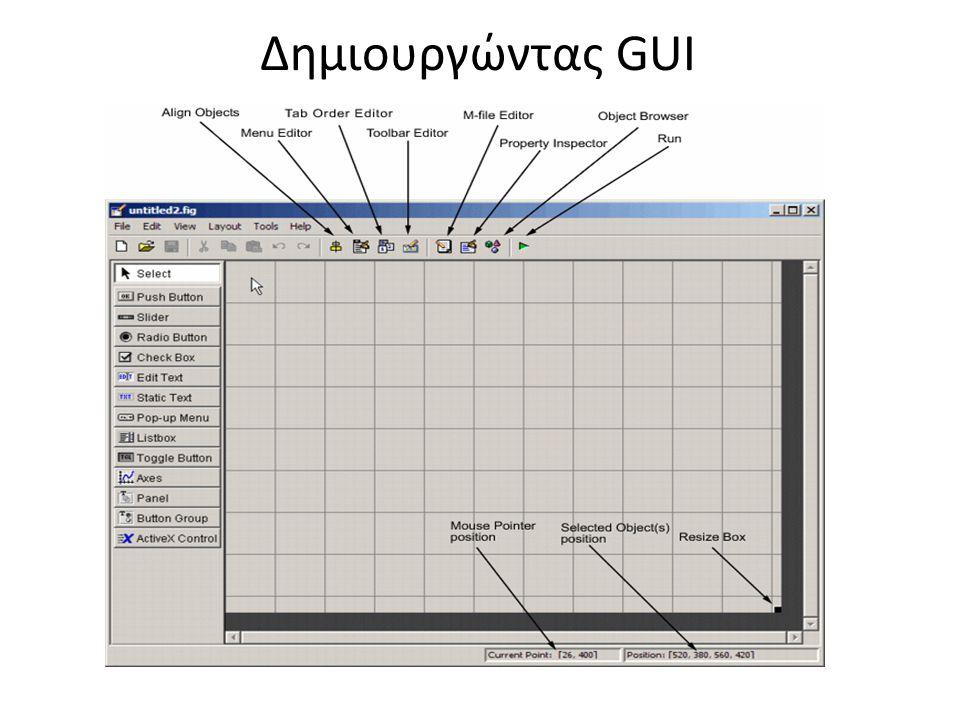 Δημιουργώντας GUI