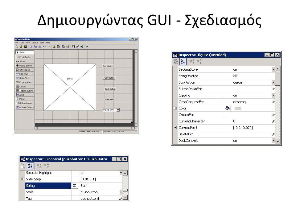 Δημιουργώντας GUI - Σχεδιασμός