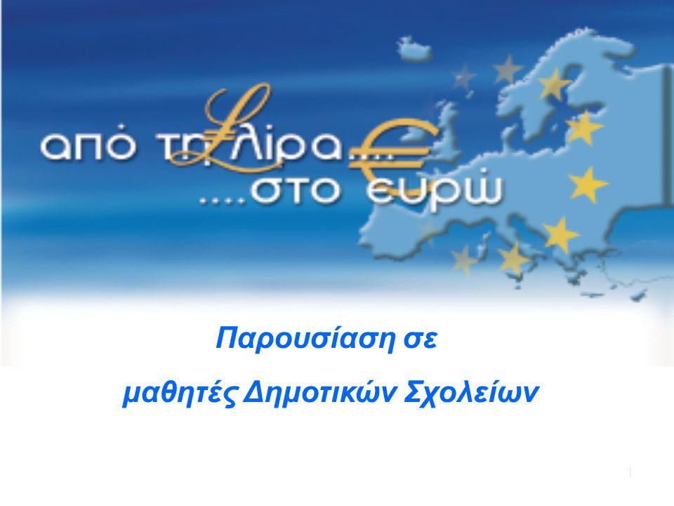 22 Ευρώ Στοχευόμενη ημερομηνία εισαγωγής του ευρώ στην Κύπρο: 01.01.2008