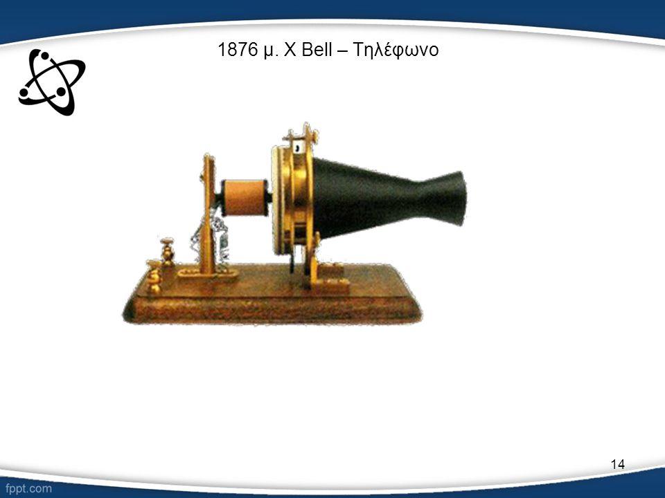 14 1876 μ. Χ Bell – Τηλέφωνο