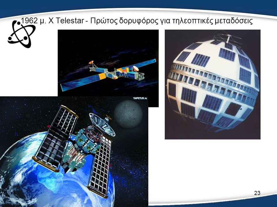 23 1962 μ. Χ Telestar - Πρώτος δορυφόρος για τηλεοπτικές μεταδόσεις