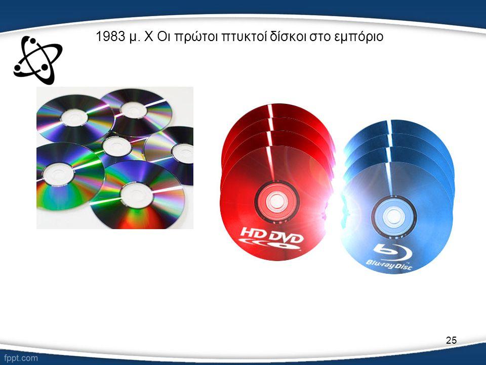 25 1983 μ. Χ Οι πρώτοι πτυκτοί δίσκοι στο εμπόριο