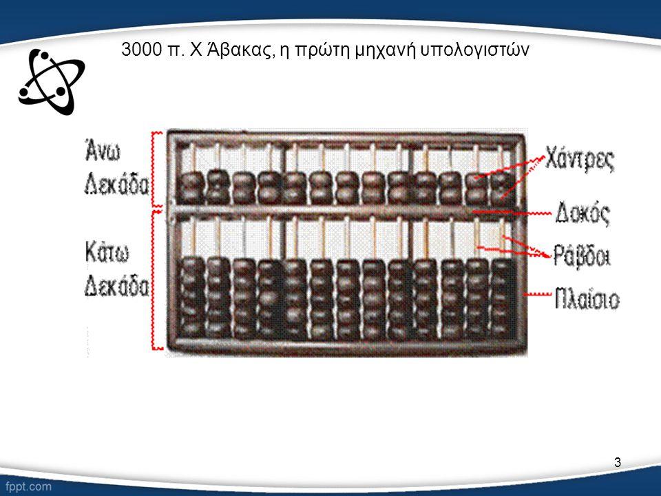 3 3000 π. Χ Άβακας, η πρώτη μηχανή υπολογιστών