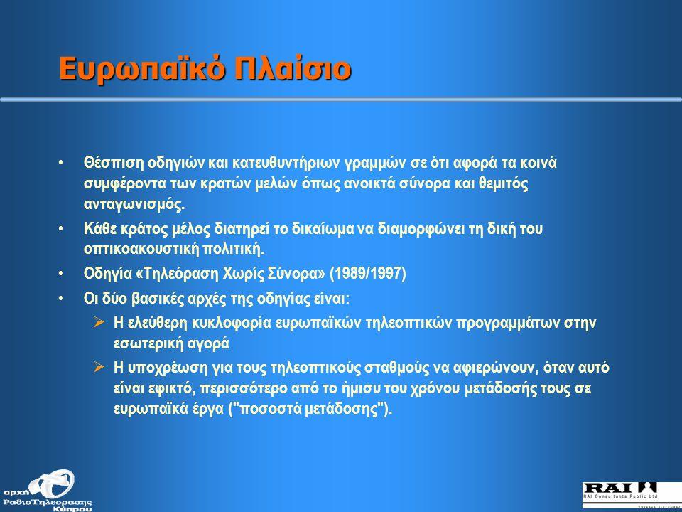 Ποικιλία προγραμμάτων που μεταδίδονται στην κυπριακή τηλεόραση σήμερα (κατά ηλικιακές ομάδες)