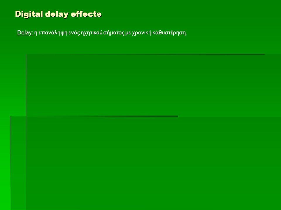 Delay: η επανάληψη ενός ηχητικού σήματος με χρονική καθυστέρηση.
