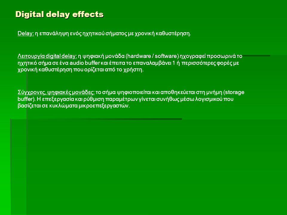 Digital delay effects Software units