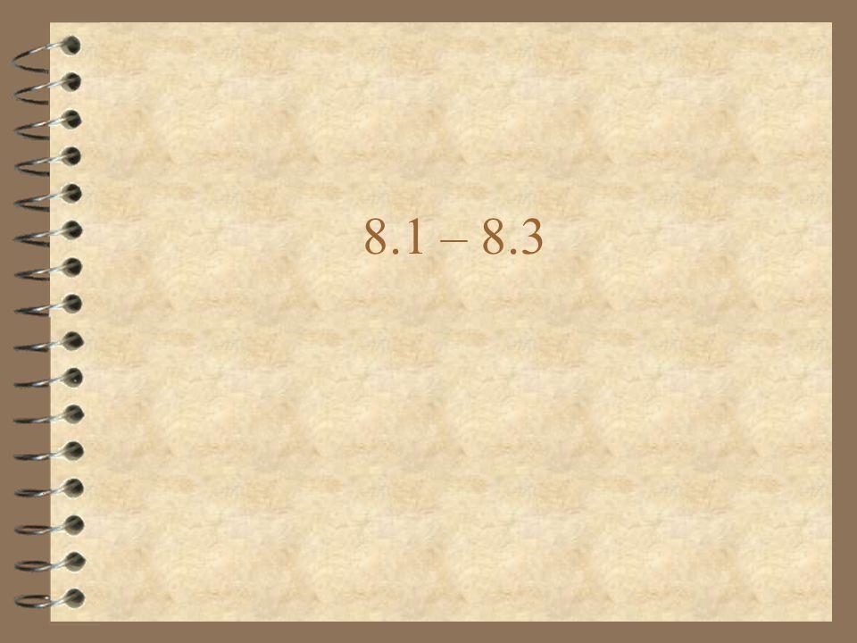 8.1 – 8.3
