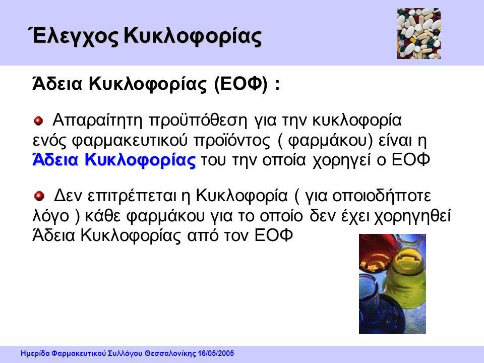 Ημερίδα Φαρμακευτικού Συλλόγου Θεσσαλονίκης 16/05/2005 Η ανάπτυξη των φαρμάκων ως εμπορικά προϊόντα Η τυποποίηση των φαρμάκων αλλά και ο ανταγωνισμός