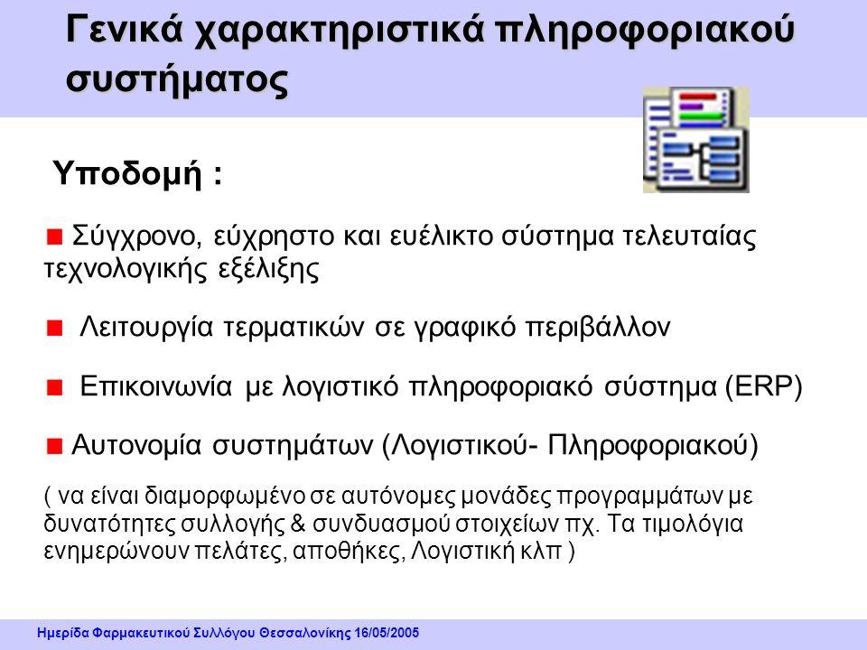 Ημερίδα Φαρμακευτικού Συλλόγου Θεσσαλονίκης 16/05/2005 Περιγραφή / Ανάπτυξη Συστήματος Συστήματα Κωδικοποίησης Υλικών : Barcode λοιπόν…. « Για να μη χ
