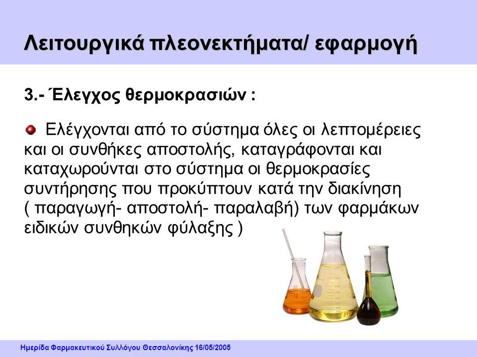 Ημερίδα Φαρμακευτικού Συλλόγου Θεσσαλονίκης 16/05/2005 2.- Διαχείριση παραγγελιών : Εισαγωγή & επεξεργασία όλων των παραγγελιών από το σύστημα, δέσμευ