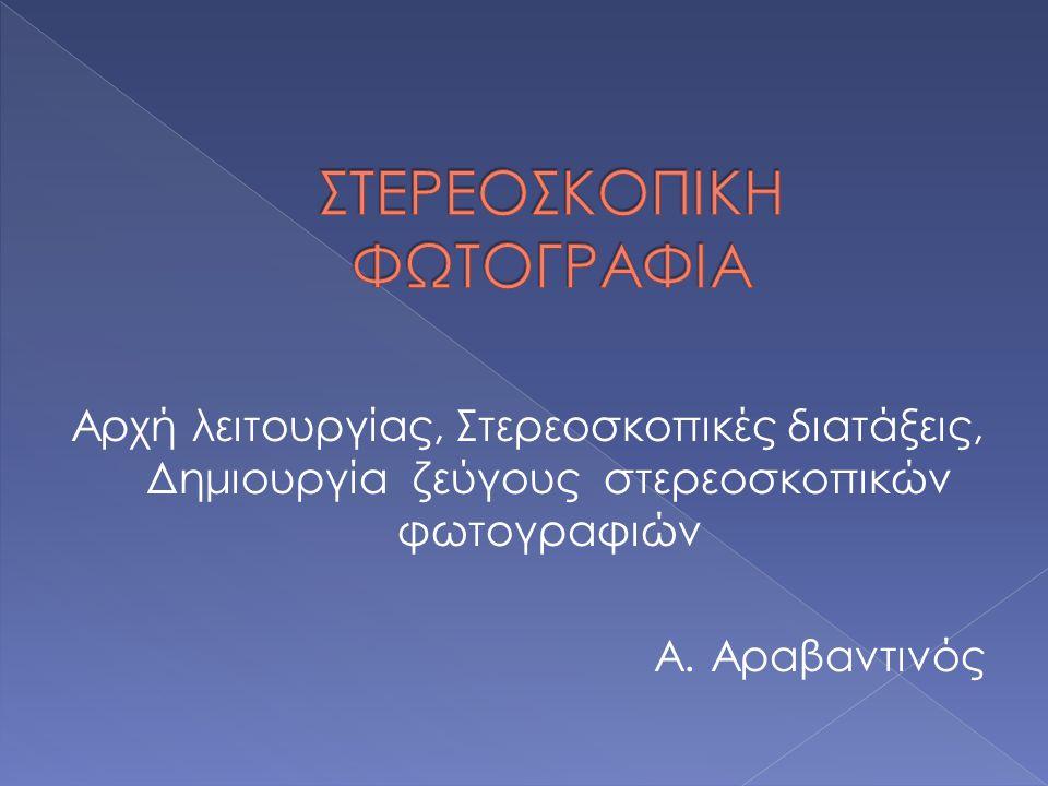 Αρχή λειτουργίας, Στερεοσκοπικές διατάξεις, Δημιουργία ζεύγους στερεοσκοπικών φωτογραφιών Α.