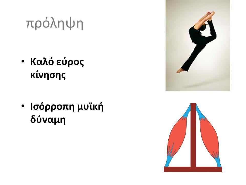 πρόληψη • Καλό εύρος κίνησης • Ισόρροπη μυϊκή δύναμη