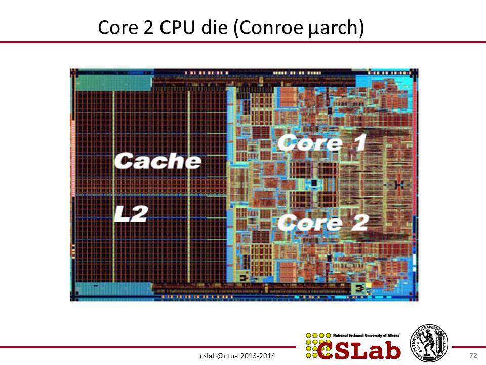 cslab@ntua 2013-2014 Core 2 CPU die (Conroe μarch) 72
