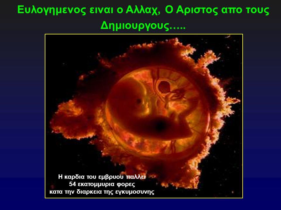 Ευλογημενος ειναι ο Αλλαχ, Ο Αριστος απο τους Δημιουργους…..