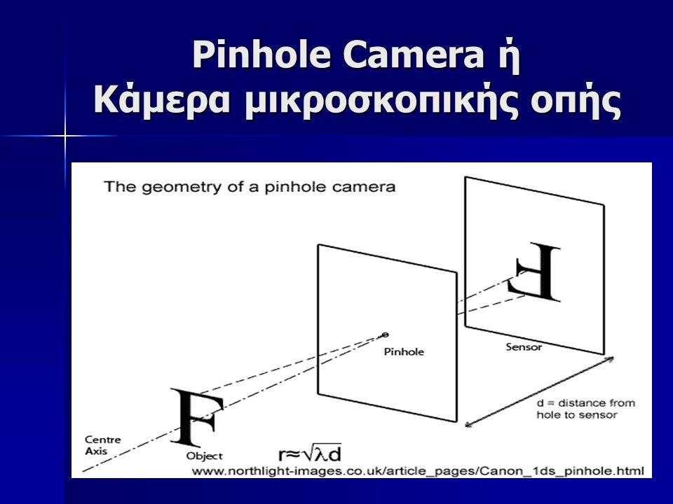 Pinhole Camera ή Κάμερα μικροσκοπικής οπής