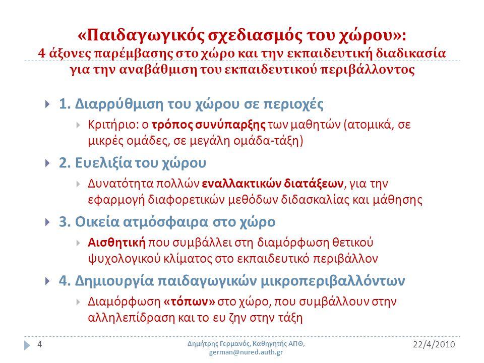 2 ο Εκπαιδευτικό – Πολιτιστικό Κέντρο « Μαναβή » / 1 (21 ο Δημοτικό Σχολείο Θεσσαλονίκης ) 22/4/201025 Δημήτρης Γερμανός, Καθηγητής ΑΠΘ, german@nured.auth.gr Φωτογραφικό αρχείο Δ.