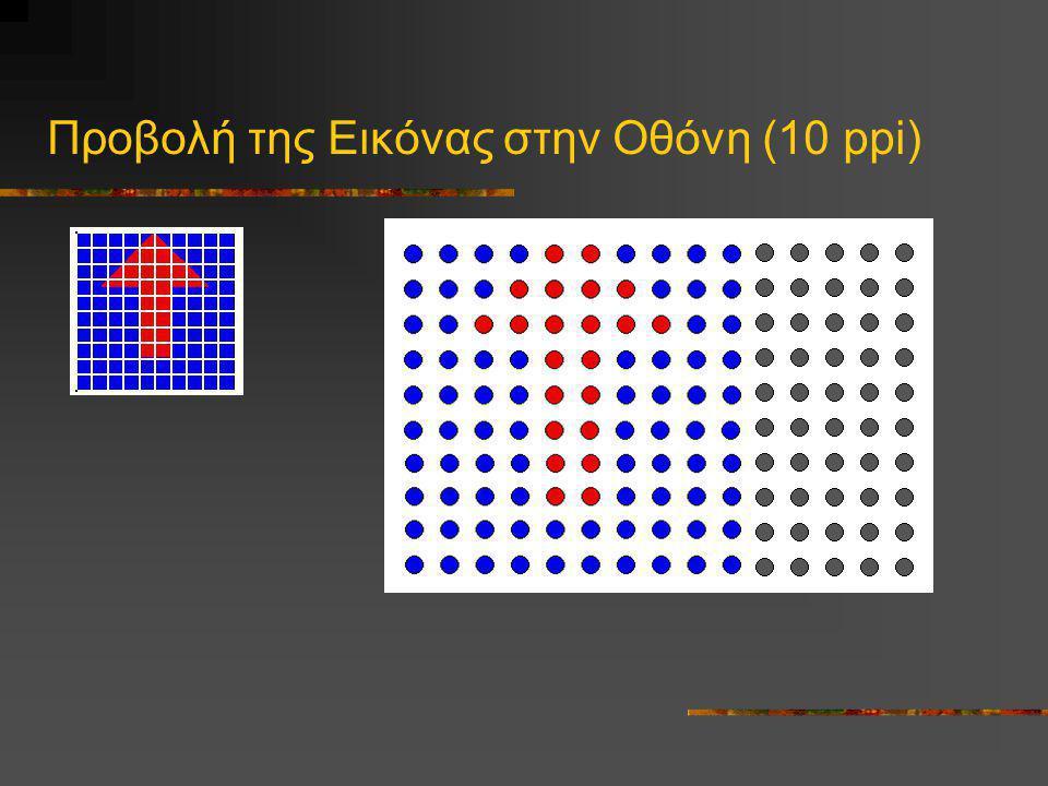 Προβολή της Εικόνας στην Οθόνη (10 ppi)