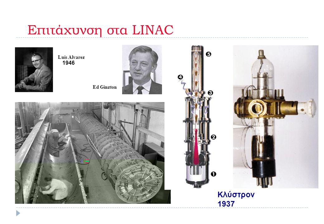 Επιτάχυνση στα LINAC Luis Alvarez Ed Ginzton Κλύστρον 1937 1946