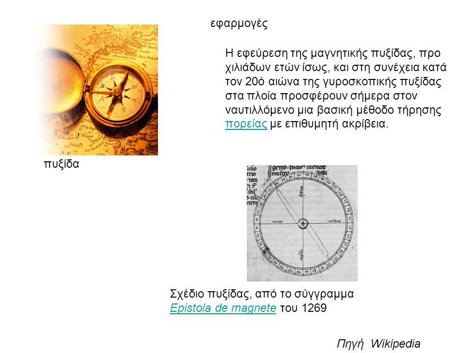 πυξίδα Η εφεύρεση της μαγνητικής πυξίδας, προ χιλιάδων ετών ίσως, και στη συνέχεια κατά τον 20ό αιώνα της γυροσκοπικής πυξίδας στα πλοία προσφέρουν σή