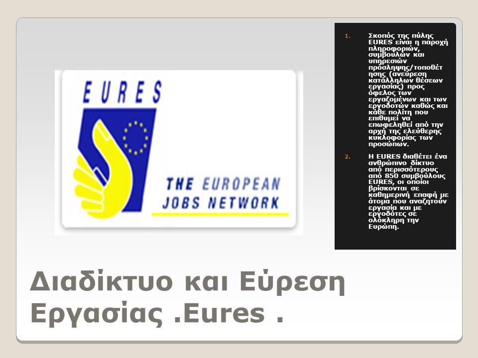 Διαδίκτυο και Εύρεση Εργασίας.Eures. 1.