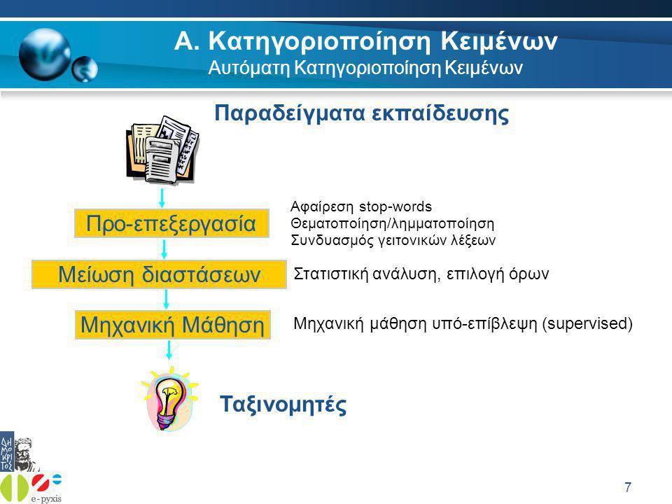 38 Ελληνικός Stemmer – Γενικά  Τι είναι κανονικοποίηση (stemming).