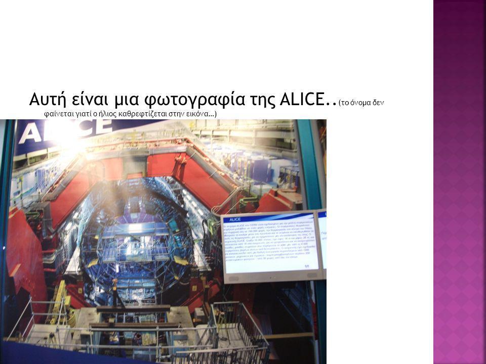 Αυτή είναι μια φωτογραφία της ALICE.. (το όνομα δεν φαίνεται γιατί ο ήλιος καθρεφτίζεται στην εικόνα…)