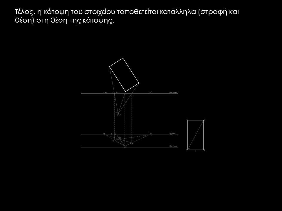 Τέλος, η κάτοψη του στοιχείου τοποθετείται κατάλληλα (στροφή και θέση) στη θέση της κάτοψης.