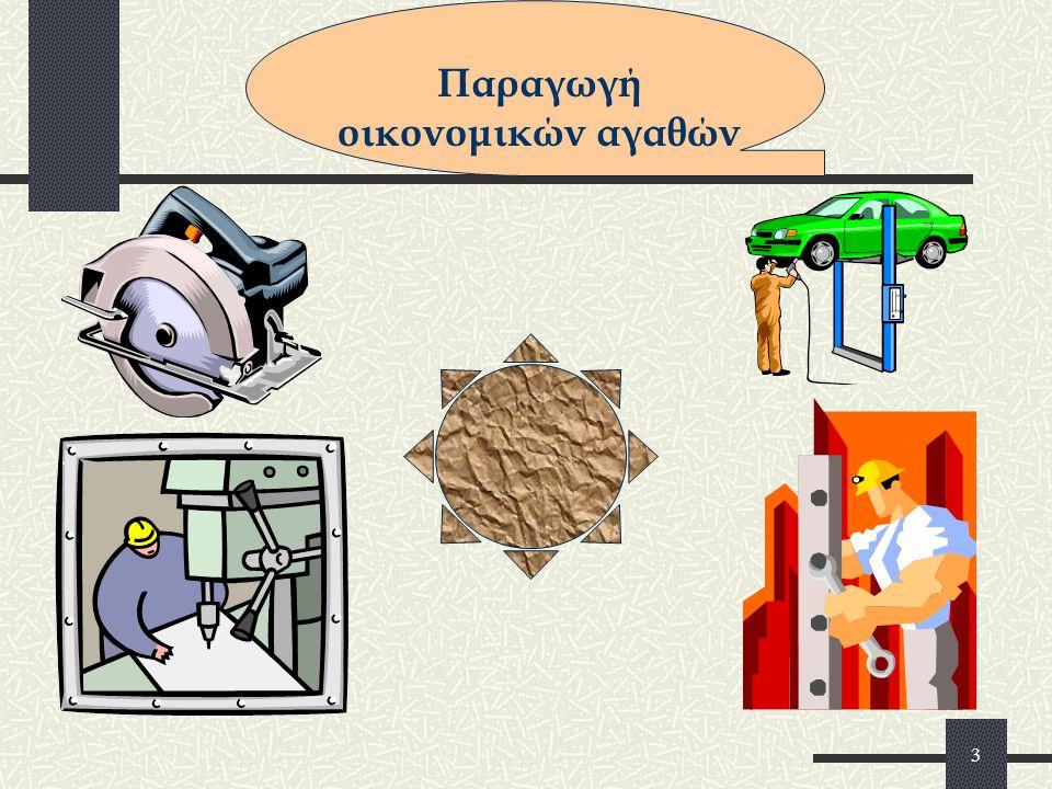 2 Οικονομικά αγαθά λέγονται τα προϊόντα της παραγωγής Τα οικονομικά αγαθά από άλλους πωλούνται (προσφέρονται) και από άλλους αγοράζονται (ζητούνται).