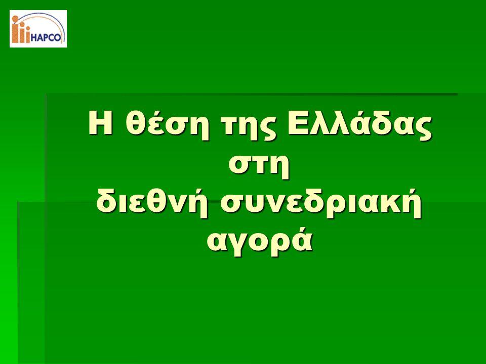 Ποια η θέση της Ελλάδας;  Δεν υπάρχει επίσημο μητρώο συνεδρίων  Αποσπασματικές προσπάθειες που δεν ανταποκρίνονται στην πραγματικότητα  Χρήση στατιστικών μητρώων διεθνών ενώσεων  ICCA (International Congress and Convention Association)  UIA (Union of International Associations)