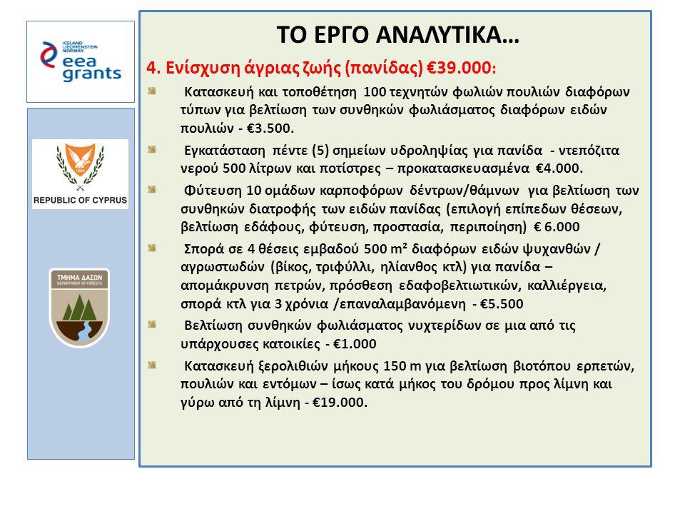 a TΟ ΕΡΓΟ ΑΝΑΛΥΤΙΚΑ… 4.