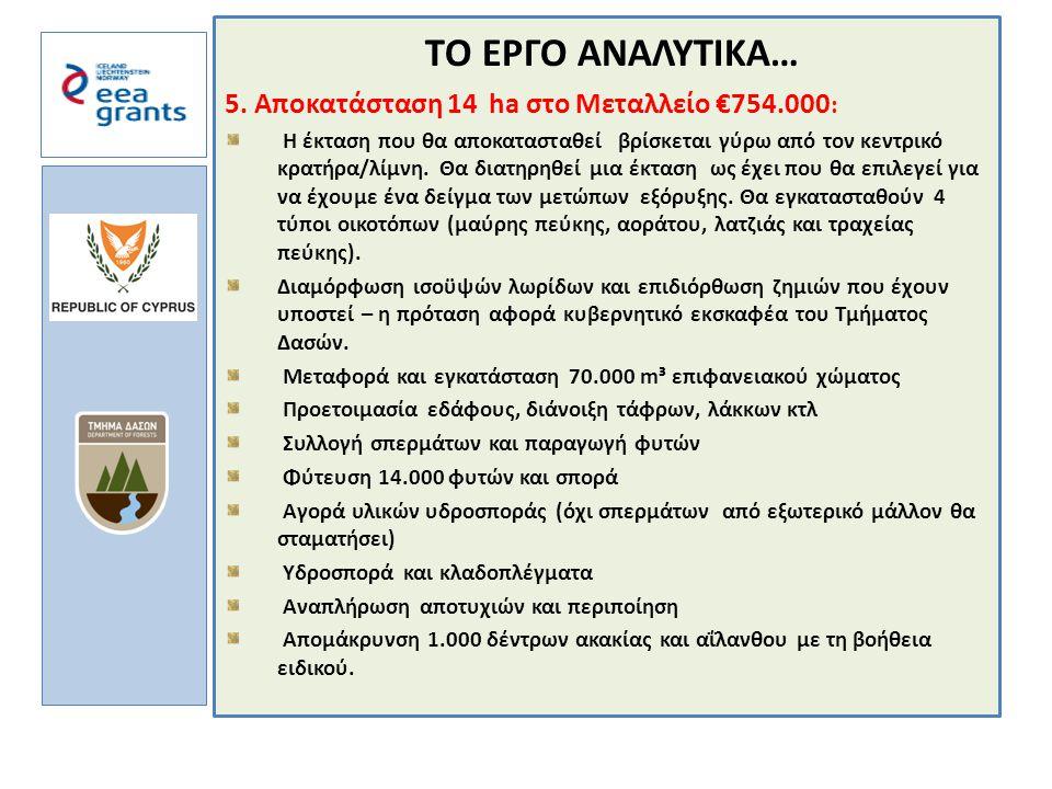 a TΟ ΕΡΓΟ ΑΝΑΛΥΤΙΚΑ… 5.