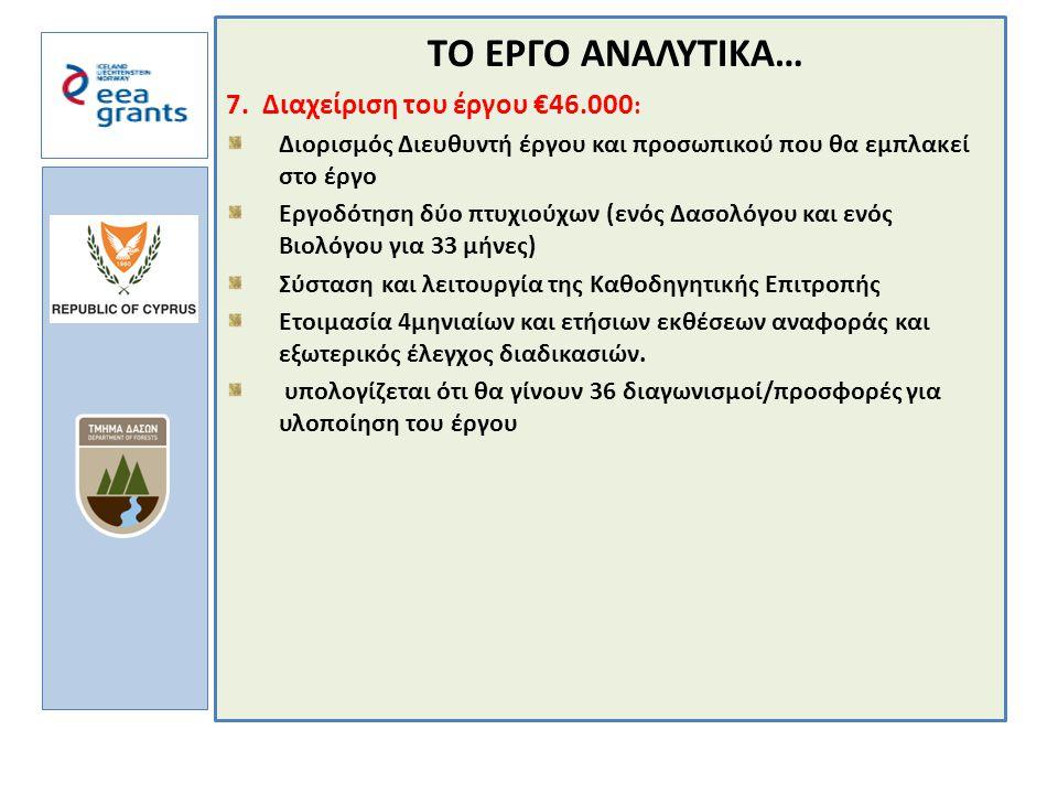 a TΟ ΕΡΓΟ ΑΝΑΛΥΤΙΚΑ… 7.