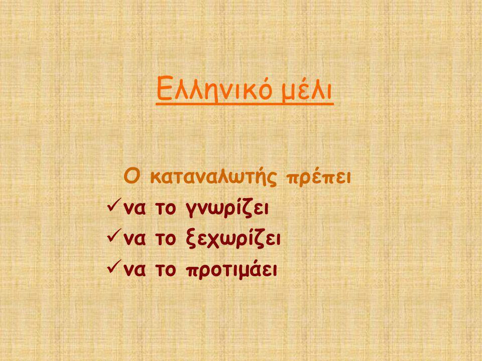 Ο καταναλωτής πρέπει  να το γνωρίζει  να το ξεχωρίζει  να το προτιμάει Ελληνικό μέλι