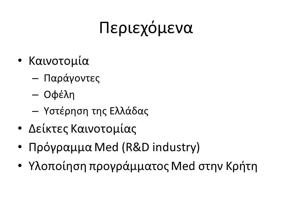 Ενθάρρυνση και Υποστήριξη Ακαδημαϊκών και Ερευνητικών Ιδρυμάτων για Έρευνα και Ανάπτυξη (Ε&Α) στη Βιομηχανία • Συντονιστής: Πανεπιστήμιο του Maribor (Σλοβενία) Συμμετέχουν: - Μεσογειακό Αγρονομικό Ινστιτούτο Χανίων (Ελλάδα) - Πανεπιστήμιο της Avignon (Γαλλία) - Πανεπιστήμιο της Κατάνιας (Ιταλία) - Ινστιτούτο Μικρομεσαίων Επιχειρήσεων της Βαλένθιας (Ισπανία) Χρηματοδότηση: πρόγραμμα MED 2007-2013 (Ευρωπαϊκό Ταμείο Περιφερειακής Ανάπτυξης (ΕΤΠΑ) και εθνικοί πόροι) Διάρκεια: 3 χρόνια (1/9/2010 έως 31/8/2013)