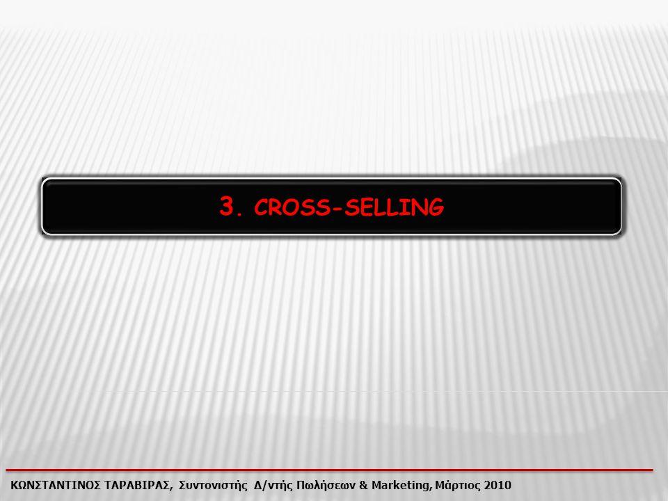 3. CROSS-SELLING ΚΩΝΣΤΑΝΤΙΝΟΣ ΤΑΡΑΒΙΡΑΣ, Συντονιστής Δ/ντής Πωλήσεων & Marketing, Μάρτιος 2010