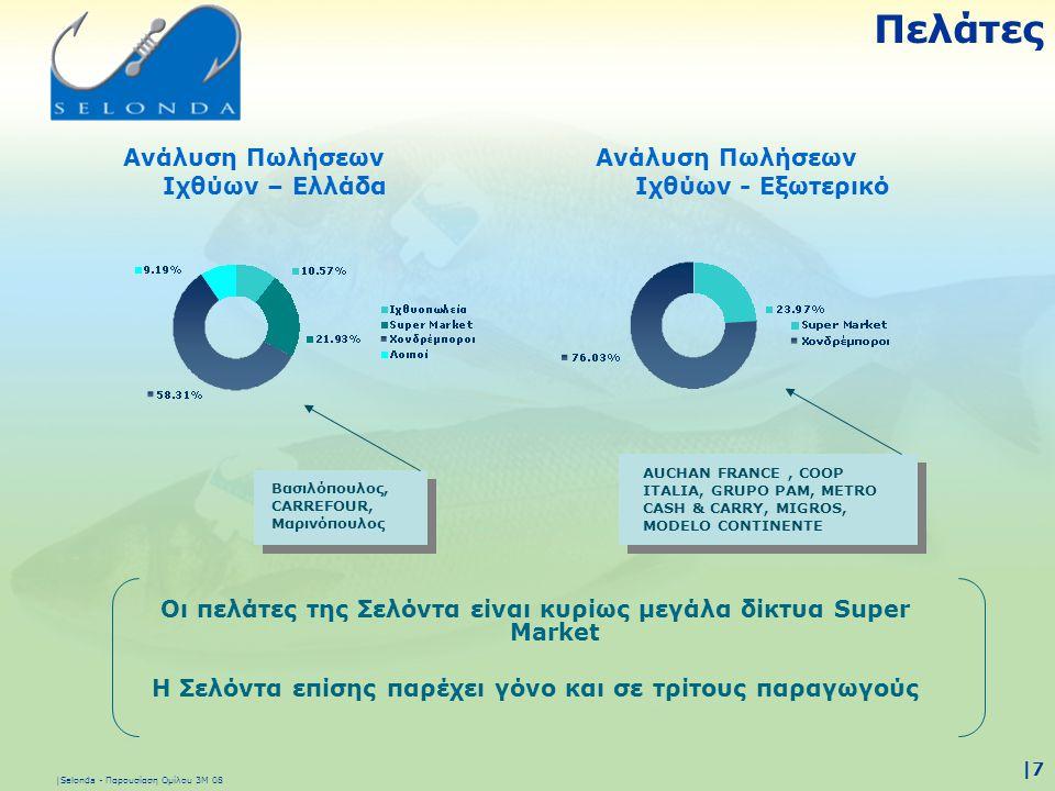 |Selonda - Παρουσίαση Ομίλου 3Μ 08 |18 Στρατηγική 1.2 – Ε&Σ Fjord Marin Turkey  Παραγωγή 6.000 τόνοι και 15 εκ.