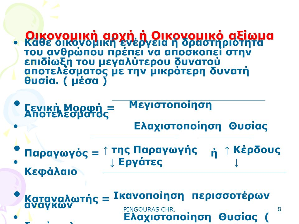 PINGOURAS CHR. 18 ΟΙΚΟΝΟΜΙΚΟ ΚΥΚΛΩΜΑ