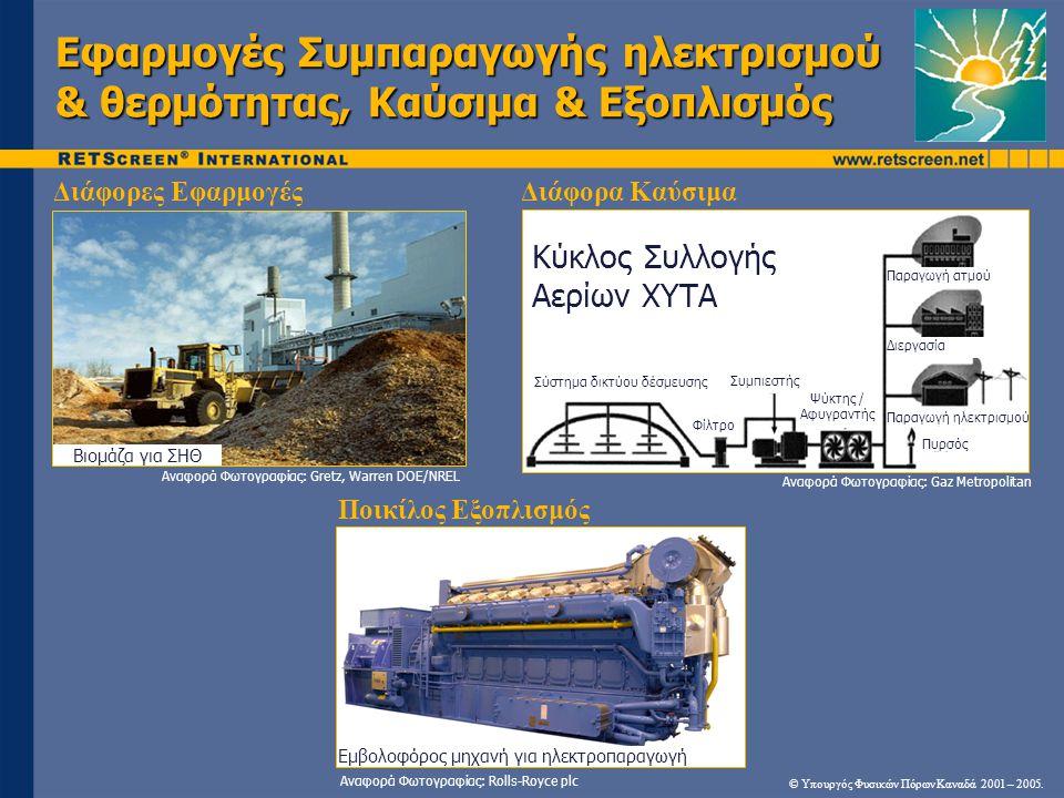 Εφαρμογές Συμπαραγωγής ηλεκτρισμού & θερμότητας, Καύσιμα & Εξοπλισμός © Υπουργός Φυσικών Πόρων Καναδά 2001 – 2005. Αναφορά Φωτογραφίας: Gaz Metropolit